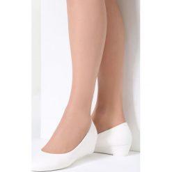 Buty ślubne damskie: Białe Koturny Waves