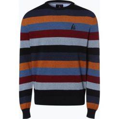 Andrew James Sailing - Sweter męski, niebieski. Niebieskie swetry klasyczne męskie Andrew James Sailing, m, w prążki, z bawełny. Za 229,95 zł.