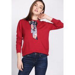 Swetry klasyczne damskie: Bordowy Sweter Messy
