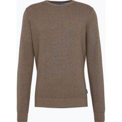 Swetry klasyczne męskie: Fynch Hatton – Sweter męski, brązowy