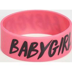 Bransoletki damskie: Bransoletka baby girl – Różowy