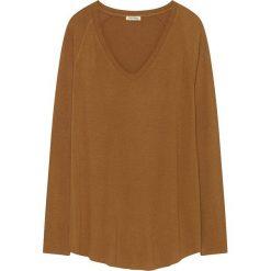 Koszulka w kolorze brązowym. Brązowe bluzki nietoperze American Vintage, s, z wełny, z długim rękawem. W wyprzedaży za 108,95 zł.