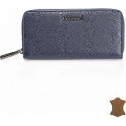 Skórzany portfel z zapięciem na suwak 20cmx9cm. Szare torebki klasyczne damskie Monnari. Za 99,50 zł.
