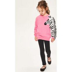 Swetry damskie: Sweter z zebrą - Różowy