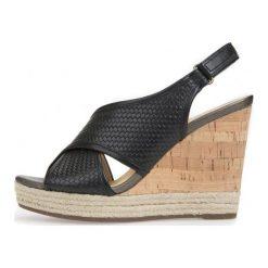 Geox Sandały Damskie Donna Janira 37 Czarne. Czarne sandały damskie marki Geox, na koturnie. W wyprzedaży za 349,00 zł.