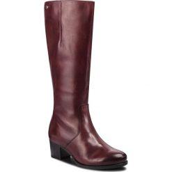 Kozaki CAPRICE - 9-25519-21 Bordeaux Nappa 540. Czerwone buty zimowe damskie Caprice, z materiału, na obcasie. Za 519,90 zł.