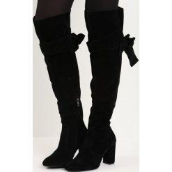 Czarne Kozaki Mayon. Czarne buty zimowe damskie marki Born2be, na wysokim obcasie, na słupku. Za 79,99 zł.