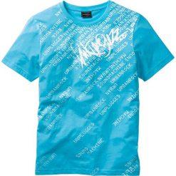 T-shirty męskie z nadrukiem: T-shirt Slim Fit bonprix turkusowy