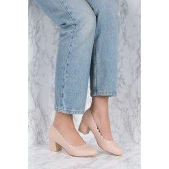 Buty ślubne damskie: NA-KD Shoes Czółenka z wycinanymi brzegami - Pink