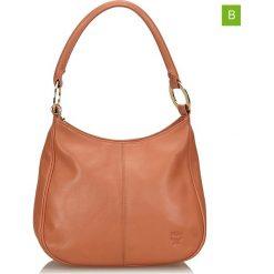 Torebki klasyczne damskie: Skórzana torebka w kolorze pomarańczowym – 20 x 26 cm