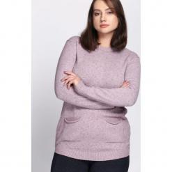 Fioletowy Sweter Regularity. Fioletowe swetry klasyczne damskie Born2be, na jesień, l. Za 79,99 zł.