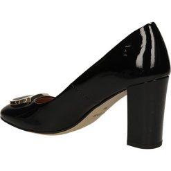 CZÓŁENKA SAGAN 2190. Czarne buty ślubne damskie Casu, na koturnie. Za 229,99 zł.