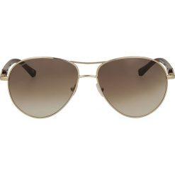 Brązowo złote okulary przeciwsłoneczne. Brązowe okulary przeciwsłoneczne damskie Kazar. Za 399,00 zł.
