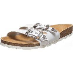 Buty damskie: Skórzane klapki w kolorze białym