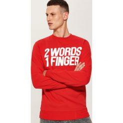 Bluza z napisem - Czerwony. Czerwone bluzy męskie rozpinane marki House, l, z napisami. Za 59,99 zł.