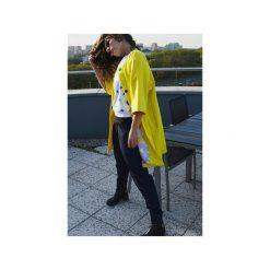 CYTRYNOWY PŁASZCZ. Żółte płaszcze damskie pastelowe Aniess, z aplikacjami, z kaszmiru. Za 1400,00 zł.