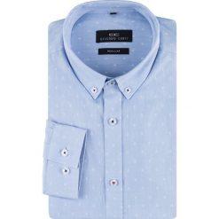 Koszula SIMONE KDNR000158. Czarne koszule męskie na spinki marki Giacomo Conti, m, z bawełny, z klasycznym kołnierzykiem. Za 169,00 zł.