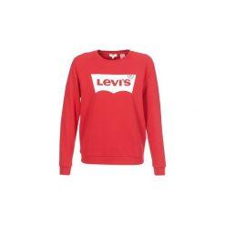 Bluzy Levis  RELAXED GRAPHIC CREW. Brązowe bluzy damskie marki Levi's®, z obniżonym stanem. Za 259,00 zł.