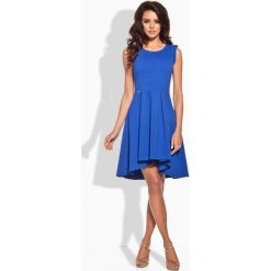 Sukienki: Rozkloszowana Asymetryczna Chabrowa Sukienka