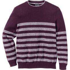 Swetry męskie: Sweter w paski Regular Fit bonprix czarny bez w paski
