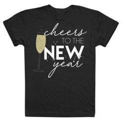 Christmas T-Shirt Koszulka Damska Cheers To The New Year M Czarny. Czarne t-shirty damskie Christmas T-Shirt, m. Za 45,00 zł.
