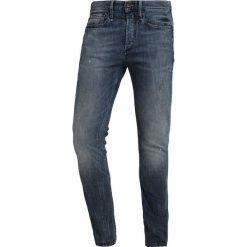 Denham BOLT Jeans Skinny Fit darkblue denim. Niebieskie rurki męskie Denham, z bawełny. Za 629,00 zł.