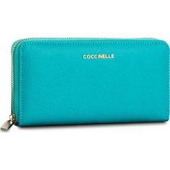 Duży Portfel Damski COCCINELLE - BW1 Metallic Saffiano E2 BW1 11 04 01 Turquoise 028. Czarne portfele damskie marki Coccinelle. W wyprzedaży za 419,00 zł.