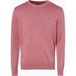 Swetry klasyczne męskie: Tommy Hilfiger – Sweter męski z dodatkiem jedwabiu, różowy