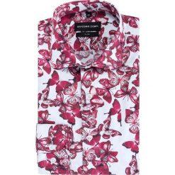 Koszula SIMONE KDWS000390. Szare koszule męskie na spinki marki S.Oliver, l, z bawełny, z włoskim kołnierzykiem, z długim rękawem. Za 199,00 zł.