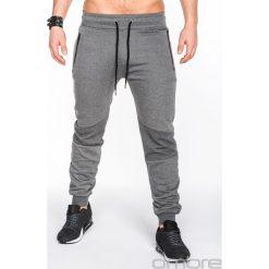 Spodnie dresowe męskie: SPODNIE MĘSKIE DRESOWE P465 – GRAFITOWE