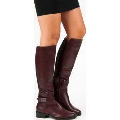 BORDOWE KOZAKI VINCEZA. Czerwone buty zimowe damskie marki Vinceza. Za 210,00 zł.