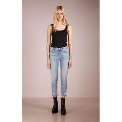 Agolde SOPHIE Jeans Skinny Fit vertico. Niebieskie jeansy damskie Agolde, z bawełny. W wyprzedaży za 459,50 zł.