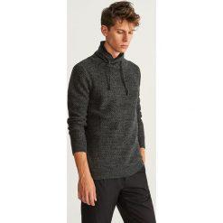 Sweter z kołnierzem - Szary. Białe swetry klasyczne męskie marki Reserved, l. Za 139,99 zł.