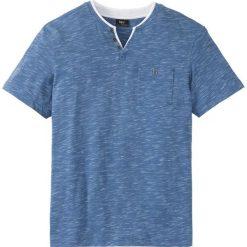 Koszulki męskie: T-shirt 2 w 1 Regular Fit bonprix niebieski dżins