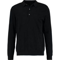 Swetry klasyczne męskie: Burton Menswear London BLACK PLAIN  Sweter black