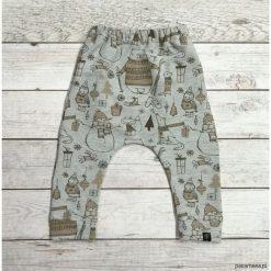 Pumpy, baggy zima. Szare spodnie dresowe dziewczęce marki Pakamera, na zimę, z dresówki. Za 79,00 zł.