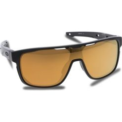 Okulary przeciwsłoneczne OAKLEY - Crossrange Shield OO9387-0631 Matte Black/24k Iridium. Czarne okulary przeciwsłoneczne męskie aviatory Oakley, z tworzywa sztucznego. W wyprzedaży za 549,00 zł.