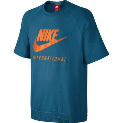 Nike Koszulka męska M NK INTL CRW SS niebieska r. S  (834306 457). Niebieskie koszulki sportowe męskie marki Nike, m. Za 244,37 zł.
