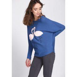 Niebieski Sweter Withstand. Niebieskie swetry klasyczne damskie Born2be, l. Za 49,99 zł.