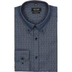 Koszula croft 2175 długi rękaw slim fit granatowy. Niebieskie koszule męskie jeansowe Recman, m, z aplikacjami, button down, z długim rękawem. Za 49,99 zł.