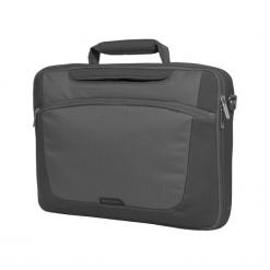 "Sumdex PON - 301GP - 1 15""-16"" szara. Szare torby na laptopa Sumdex, w paski. Za 79,90 zł."