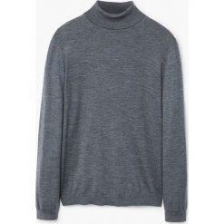 Mango Man - Sweter Willow. Szare swetry klasyczne męskie Mango Man, m, z bawełny, z golfem. W wyprzedaży za 99,90 zł.