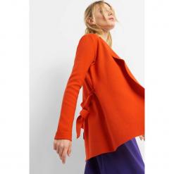Kardigan z wiązaniem. Czarne kardigany damskie marki Orsay, xs, z bawełny, z dekoltem na plecach. Za 119,99 zł.