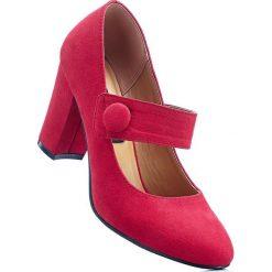 Czółenka z paskiem bonprix czerwony. Czerwone buty ślubne damskie bonprix. Za 79,99 zł.