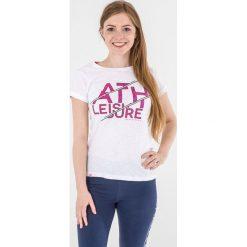 Topy sportowe damskie: 4f Koszulka damska biały r. S (H4L17-TSD015)