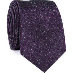 Krawat KWFR001862. Czarne krawaty męskie Giacomo Conti, w kropki, z mikrofibry, klasyczne. Za 69,00 zł.