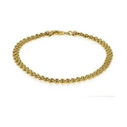 Bransoletki damskie na nogę: Złota Bransoletka - złoto żółte 585