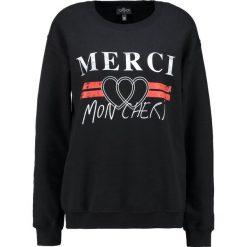 Bluzy rozpinane damskie: Topshop Petite MERCI  Bluza black