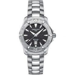 PROMOCJA ZEGAREK CERTINA DS Action C032.251.11.051.09. Czarne zegarki damskie CERTINA, pozłacane. W wyprzedaży za 1751,20 zł.