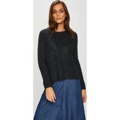 Jacqueline de Yong - Sweter. Czarne swetry klasyczne damskie Jacqueline de Yong, l, z dzianiny, z okrągłym kołnierzem. Za 69,90 zł.